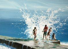"""Saatchi Online Artist: Antoine Renault; Acrylic, 2012, Painting """"Jeté d'écume"""""""