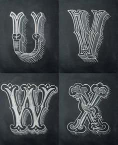 Chalk Alphabet by Antonio Rodrigues Jr, via Behance