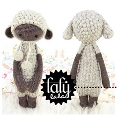 LUPO the lamb / sheep - lalylala amigurumi crochet PATTERN - ebook by lalylala on Etsy https://www.etsy.com/listing/172022840/lupo-the-lamb-sheep-lalylala-amigurumi