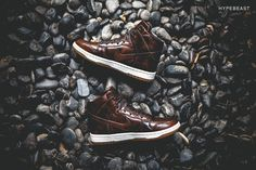 "Following the unveiling of the NikeLab Dunk Lux High, we have our first look at a special colorway for the shoe. The ""Burnished Leather"" iteration canvasses the new silhouette in a rich, brown leather..."