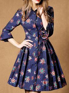 SWANSHOW лацкан рябить рукав однобортный вскользь платье