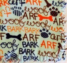 Fleece Blanket  Dog Speak by FleckensFleaMarket on Etsy, $20.00