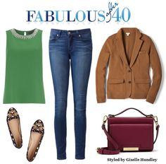 Don't tuck away your sleeveless top. Add a jacket and a dark leather bag, then switch out sandals for closed toe shoes.