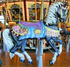 Chance w/New Carvings Carousel at Riverfront Park, Salem, Oregon, USA