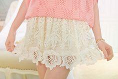 Crochet Lace Skirt from Yumart