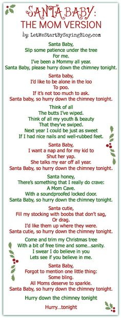 Santa, Baby for Moms by @LetMeStartBySaying