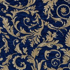 Blue and Beige and Neutral color Scrollwork and Traditional pattern Chenille and Jacquard type Upholstery Fabric called Navy by KOVI Fabrics Upholstery Repair, Upholstery Foam, Furniture Upholstery, Upholstery Cleaning, Funky Furniture, Colorful Furniture, Painted Furniture, Timber Furniture, Furniture Ideas