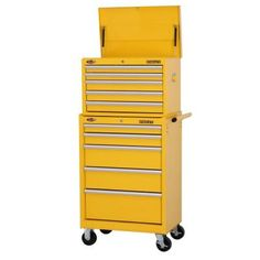 Stanley 27. in. 10-Drawer Tool Chest and Cabinet Combo, Orange ...