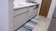ませ Tile Floor, Kitchen Cabinets, Flooring, Home Decor, Decoration Home, Room Decor, Kitchen Base Cabinets, Tile Flooring, Hardwood Floor
