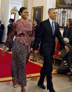 Michelle Obama Breathes New Life Into a Dries Van Noten Dress