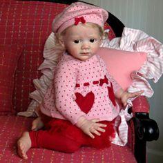 "Golden Giggles Reborn Baby Girl ""Fridolin"" Sculpted by Karola Wegerich | eBay"