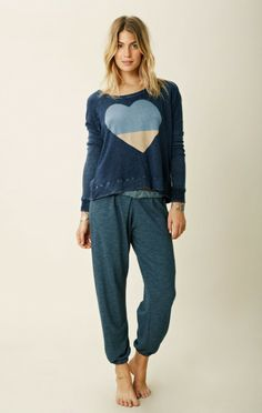 HEART CROPPED PULLOVER