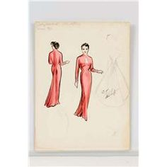 Hollywood Costume Designer Irene sketches | Irene Sharaff costume design sketch for Judy Garland from A Star Is ...