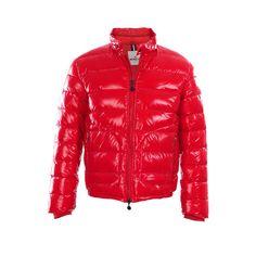 moncler red mens jacket