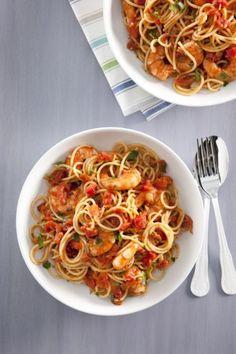 Recept voor pasta met garnalen
