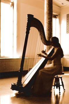 learn a song on the harp OR sing while someone plays on the harp