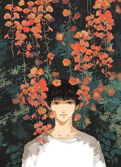 Uploaded by Wendy. Find images and videos about art, anime and flowers on We Heart It - the app to get lost in what you love. Art And Illustration, Aesthetic Art, Aesthetic Anime, Manga Art, Anime Art, Anime Lindo, Anime Kunst, Arte Pop, Art Graphique