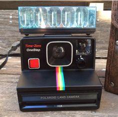 Fresh to the shop my favorite Polaroid rainbow! The black onestep rainbow. Polaroid Cameras, Vintage Polaroid, Minis, All About Time, Rainbow, Fresh, Shop, Stuff To Buy, Black