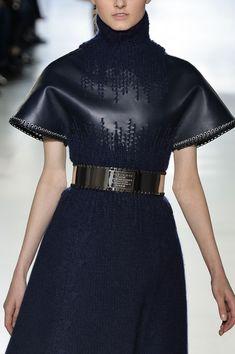 Balenciaga Fall 2014 - Cool woven in knit detail