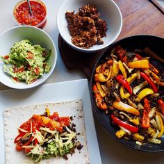 YOU SEXY THAAAANG!  Currently laying in a food coma after making  @cateinthekitchen's vegan fajitas. So bloody good. More on this and making it gluten free soon  by lorileysesh
