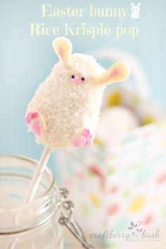 Rice Krispies Easter bunny pop tutorial