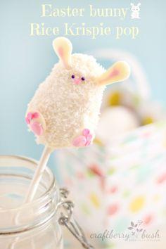 Rice Krispie Easter bunny pop