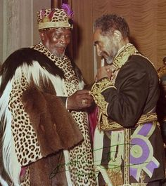 Haileselassie I of Ethiopia and Jomo Kenyatta of Kenya - 1973.