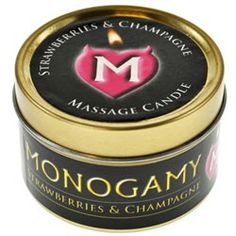 Monogamy Strawberries and Champagne Large Candle 65g