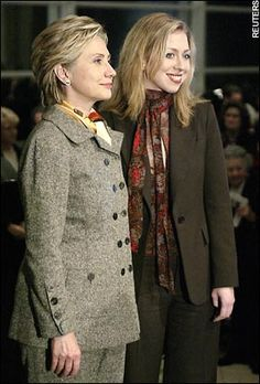 Hillary & Chelsea Clintonyes, and I met them all three, so gracious she was to each and every one....amazing the aura she put off...powerful yet gentle and kind.  I work for her before I do it again.