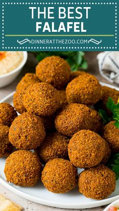 This falafel recipe is dried chickpeas blended with herbs and spices, then formed into patties or balls and fried to golden brown perfection