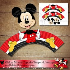 Mickey Mouse Cupcake Topper and Wrapper Set, Red Yellow Black Mickey Mouse Cupcake Topper, Donald Duck Cupcake Topper, Donald, Printable Mickey Mouse Clubhouse Invitations, Mickey Mouse Clubhouse Birthday, Mickey Mouse Birthday, 2nd Birthday, Duck Cupcakes, Mickey Mouse Cupcakes, Minnie Mouse Cupcake Toppers, Princess Cupcake Toppers, Mickey Mouse Clasico