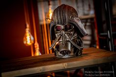 #sculpture #handcraft #popculture #steampunktendencies #recycled #scrapart #scrapsculpture #art #retrofuturism #copper #helmet #mask #darthvader #darkvador #starwars