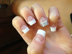 White tip acrylic nails french nails nails pinterest nail cute prom nails this is what i did feet choice i your simple but cute prinsesfo Choice Image