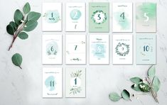 Kit cartes mois bébé, étapes bébé, naissance, bébé, photo bébé 1 An, Forts, Gallery Wall, Photos, Frame, Painting, Instagram, Decor, 1 Month