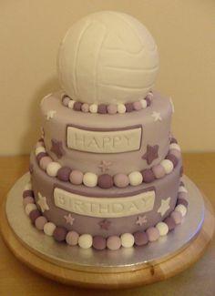 Netball Cake by Bubba's Bakery Beautiful Cake Designs, Beautiful Cakes, Amazing Cakes, Fun Cupcakes, Cupcake Cakes, My Birthday Cake, Unique Wedding Cakes, Colorful Cakes, Love Cake
