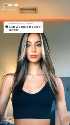 Straight Hair With Highlights, Straight Brunette Hair, Haircuts Straight Hair, Fall Highlights, Long Hair Cuts, Hair Tips Video, Medium Hair Styles, Curly Hair Styles, Hair Streaks