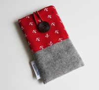 Handytasche Filz Anker rot Christmas Stockings, Coin Purse, Purses, Wallet, Holiday Decor, Style, Lenses, Small Bags, Felting