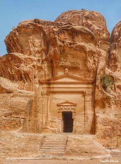 Temple at the Beginning of Siq Al-Barid. Little Petra, Jordan