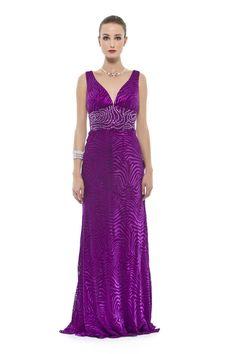 Vestido longo em devorê de seda pura com bordado em pedras na cintura. Cod. 101645   #zumzum #zumzumfesta #vestido #festa #vestidodefesta #dress #partydress