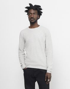 The Idle Man Reverse Knit Crew Neck Jumper Grey #StyleMadeEasy