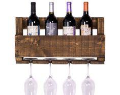 Botellero  Upcycled vino botellero rústico de por SweetRedDesign