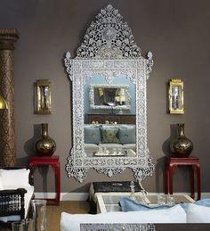 Stunning Syrian Moroccan Mirror, maison Malou loves it! - Jalan Jalan Collection via Houzz