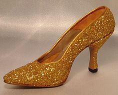 Golden Stiletto by Just The Right Shoe Miniature Shoe