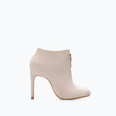 Image 1 of HIGH HEEL ANKLE BOOT WITH ZIP from Zara