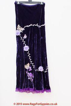 Violette Velvet Elegant Fairytale Long Feminine by RagsForGypsies