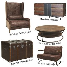 Four Hands   Furniture Design   Home Decor   Industrial Furniture   Leather Furniture   Collage