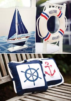 Nautical Party Decorations | Rustic & Elegant Nautical Baby Shower // Hostess with the Mostess®