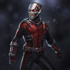 """""""Here's an alternate design I did for the AntMan costume for the film. This inevitable s pretty similar to the final with some noticeable differences-…"""""""