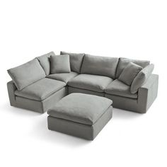 Add comfort and style to any living area with sectional sofas, classic loveseats, and more. Choose from a range of causal and family-friendly sofas and loveseats at Grandin Road. Couches For Small Spaces, Living Spaces, Small Space Furniture, Tiny House Furniture, Living Area, U Shaped Couch, Small Sectional Sofa, Space Fabric, Chair And A Half