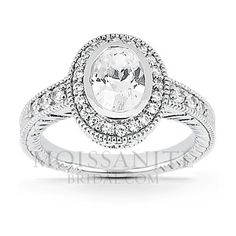 Check out the deal on Antique Oval Halo Style moissanite engagement ring at MoissaniteBridal.com